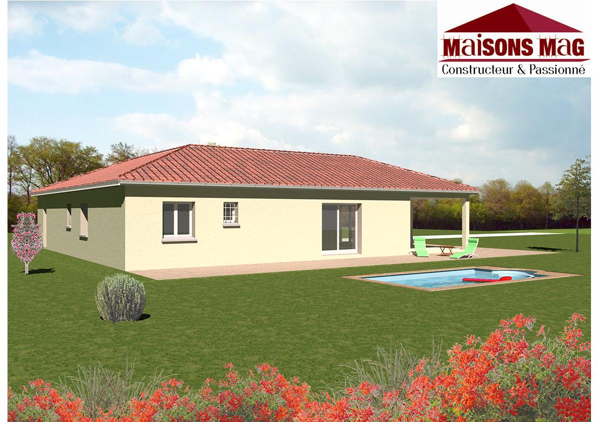 Plan de maison individuelle plain pied tage ou sous sol for Constructeur maison allier