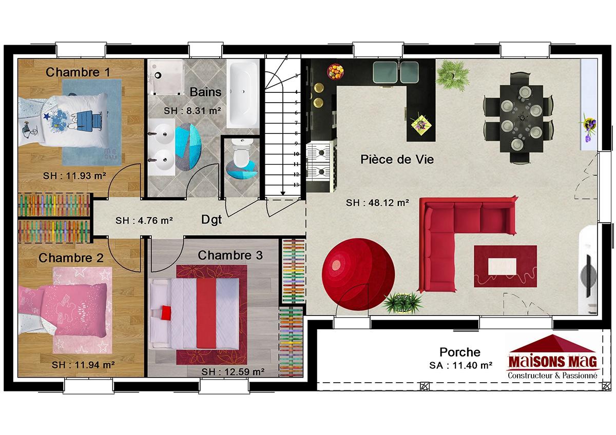 Plan De Maison Individuelle Plain Pied Etage Ou Sous Sol