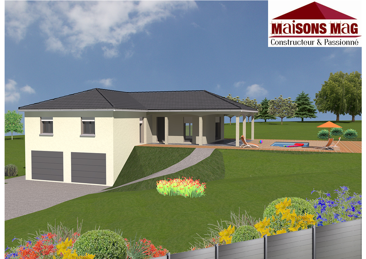 Plan de maison individuelle plain pied tage ou sous sol for Modele maison avec sous sol complet