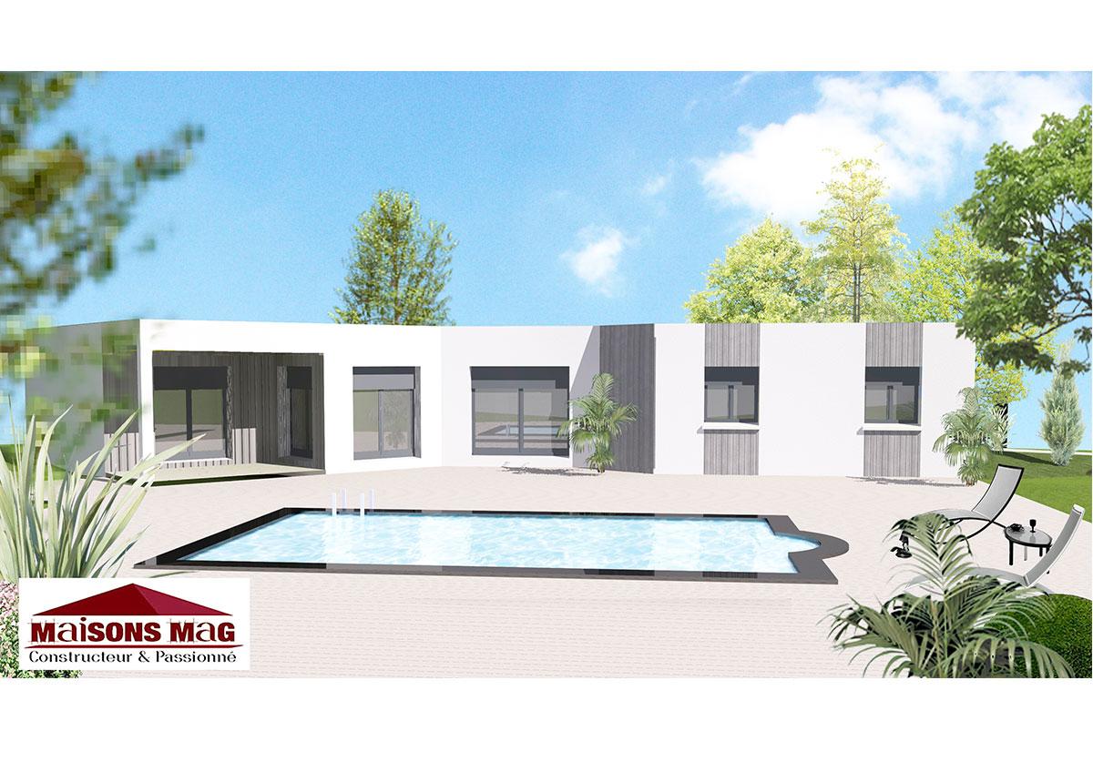 Plan maison individuelle avec sous sol for Plan maison contemporaine avec sous sol